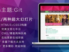 WordPress主题:多功能扁平化小清新的Git乐趣公园主题