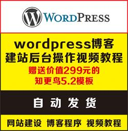 赣州SEO送你一套超详细的wordpress博客程序建站新手入门零基础后台操作视频教程