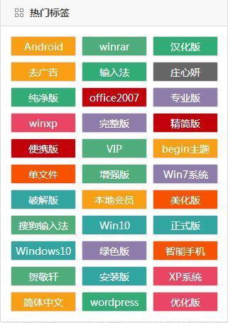 WordPress右侧边栏彩色标签修改为固定显示样式